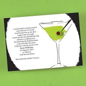 Cool Cocktail Green Invitation