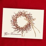 Wreath Thanksgiving Card